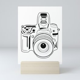 Black and White Camera Mini Art Print