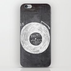 you are what you listen to iPhone Skin