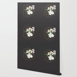 Tropical Flowers & Geometry III Wallpaper