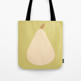 Minimal Pear Fruit - Green Tote Bag