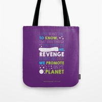 buzz lightyear Tote Bags featuring Buzz Lightyear by Nikita Gill