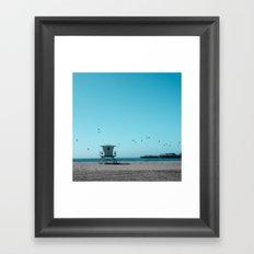 Birds and lifeguard Framed Art Print