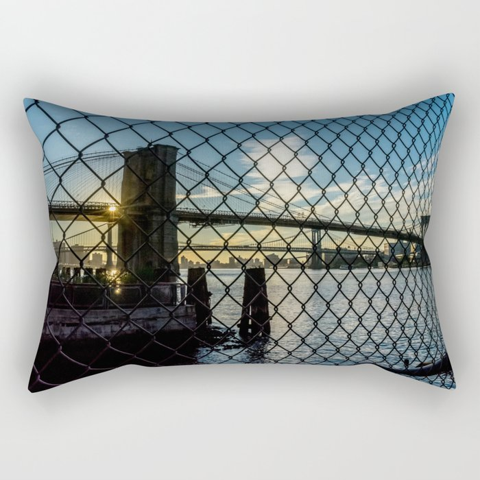 Brooklyn Bridge (Gated) Rectangular Pillow