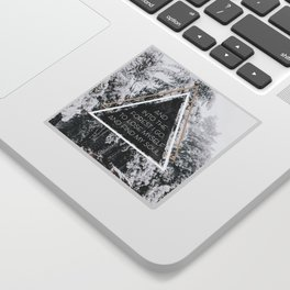 Into the forest I go Sticker