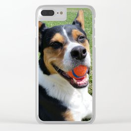 Wallace With A Ball Clear iPhone Case