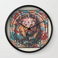 leo Wall Clocks featuring Leo by Heinz Aimer