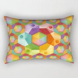 Rainbow Hexagons Rectangular Pillow