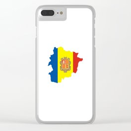 Andorra flag map Clear iPhone Case