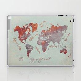 world map 142 red grey #worldmap #map Laptop & iPad Skin