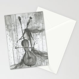 "CELLO. A SERIES OF WORKS ""MUSIC OF THE RAIN"" Stationery Cards"