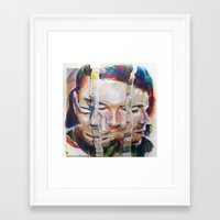 selfie Framed Art Prints featuring Selfie by robotrake