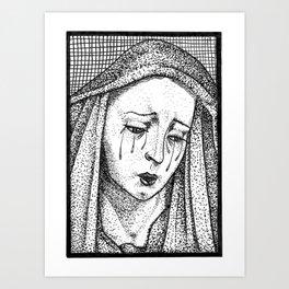 Crying Virgin Art Print