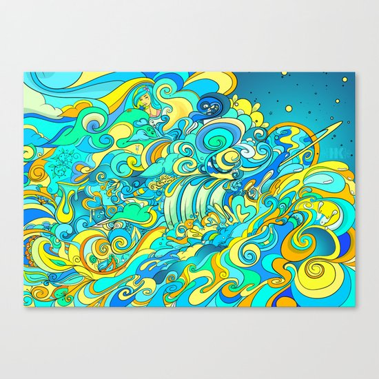 Cosmic Waterfall Canvas Print