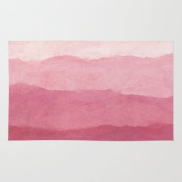 Ombre Waves in Pink Rug