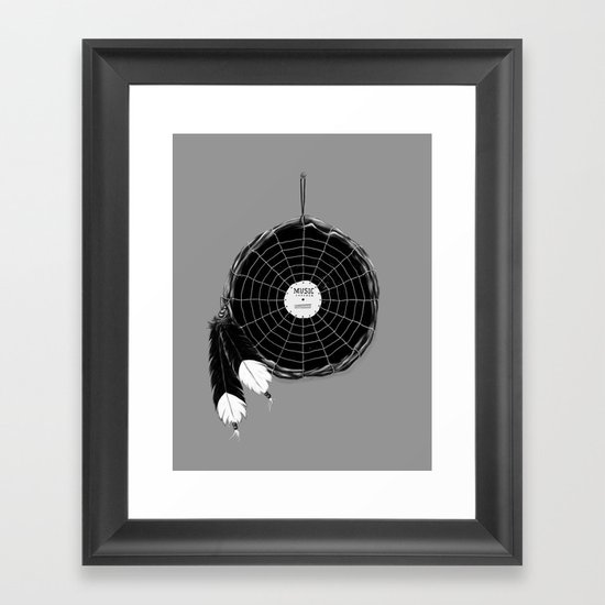 Music Catcher Framed Art Print