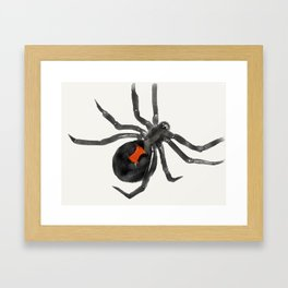 Black Widow Framed Art Print