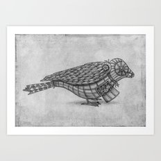 Clockwork Bird  Art Print