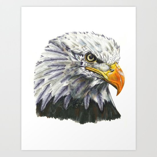 Bald Eagle! Art Print