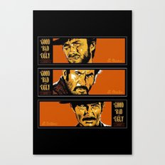 the good ,the bad , and the evil Canvas Print