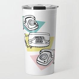 Retro phones Travel Mug