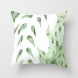 Abstract Fern Throw Pillow
