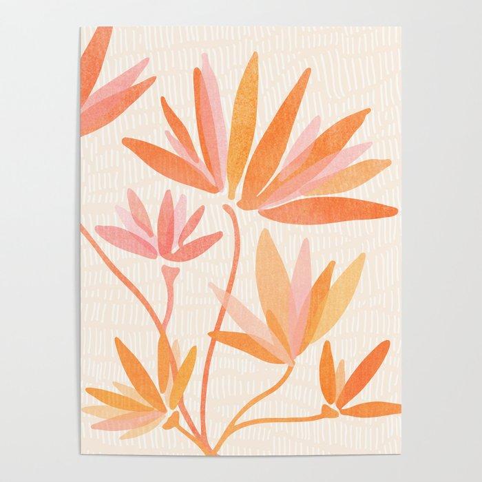 Basking In The Summer Sun / Japanese Botanical Woodblock Poster