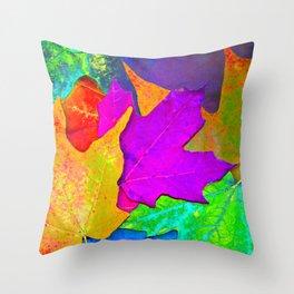 Vivid Leaves #1 Throw Pillow