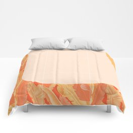 Mid-Century Tropical Orange Style #society6 #tropical Comforters
