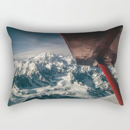 Flying Around Denali Rectangular Pillow
