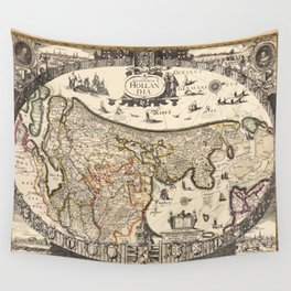 Map Of Holland 1630 Wall Tapestry