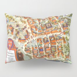 HARVARD University map MASSACHUSETTS Pillow Sham