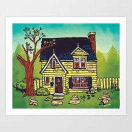 Cairn House Art Print