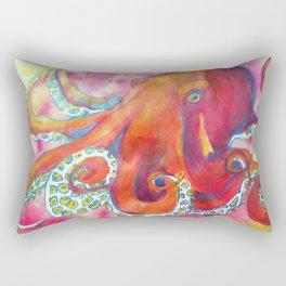 Ponderous Octopus in Pink and Orange Rectangular Pillow