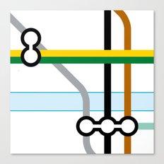 Tube Junction 2 Canvas Print