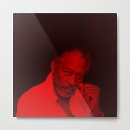 Morgan Freeman - Celebrity (Photographic Art) Metal Print