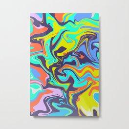 POP ART SWIRLS Metal Print
