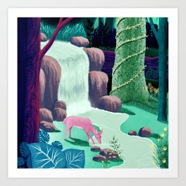 The Whispering Waters of Eventide Vale Art Print