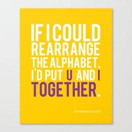 Alphabet Soup Canvas Print