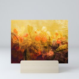 LOVELY FLOWERS ARE KISSING A YELLOW FIELD Mini Art Print
