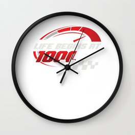 Motocross Riders Racers Motorcycle Gift Life Begins At 1000 RPM Wall Clock