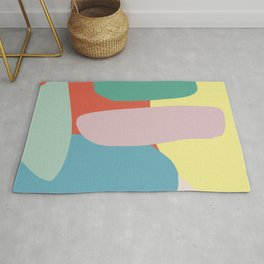 Color pebble abstract Rug