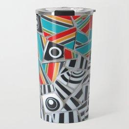 One, Two, Many Stripes Travel Mug