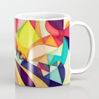 geometry Mugs featuring Poetry Geometry by Anai Greog