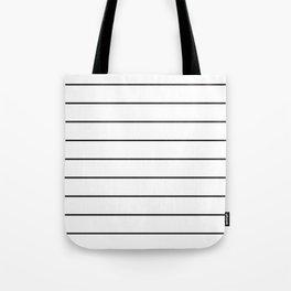SKINNY STRIPE ((black on white)) Tote Bag