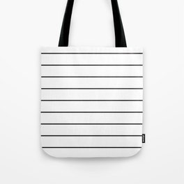 SKINNY STRIPE ((black on white)) Tote Bag