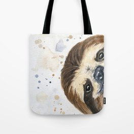 Sloth watercolor Tote Bag