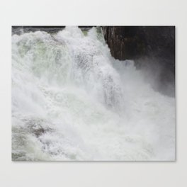 The River Is Wild! Churning River, Wild Waterfall, Beautiful Water Canvas Print