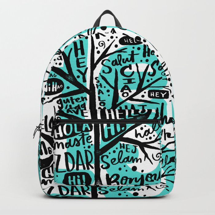 hello ni hao ciao konichiwa Backpack
