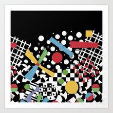 Ticker Tape Geometric Art Print