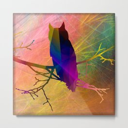 ap071 Bird on branch Metal Print